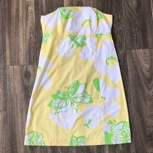 Lilly Pulitzer Strapless Butterfly Floral Dress 8